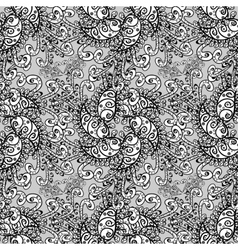 Damask seamless pattern for design vector image