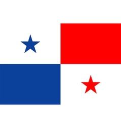 Panama flag vector image