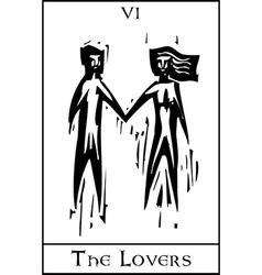 Tarot Card Lovers vector image vector image
