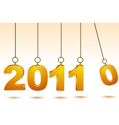2011 greeting card vector image