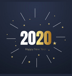 2020 new year happy eve party background vector image