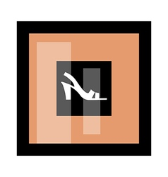 A shoe of frame vector