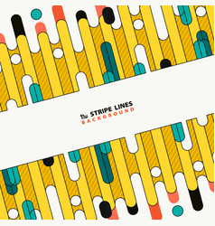 abstract colorful tech stripe line new cover vector image