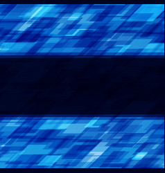 Abstract geometric squares lines blue vector
