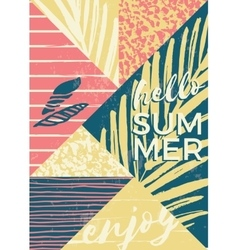 Abstract summer composition with hand drawn vector