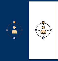 Ambient user technology experience icons flat and vector