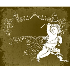 Angel with frame vector