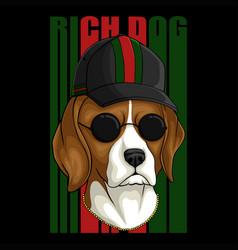 Beagle rich dog vector