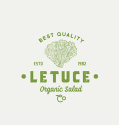 Best quality lettuce abstract sign symbol vector
