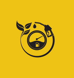 Bio fuel station icon vector