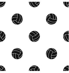 black volleyball ball pattern seamless black vector image