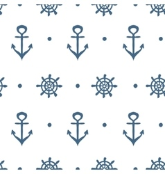 Blue and white nautical template vector image