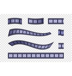 Blue filmstrip set vector