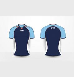blue white and orange sport football kits t-shirt vector image