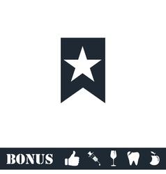 Bookmark icon flat vector image