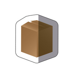 Brown box closed icon vector