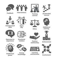 business management icons pack 34 vector image