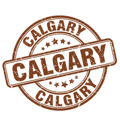 Calgary brown grunge round vintage rubber stamp vector