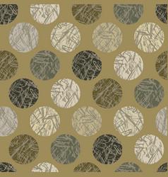 Camo texture polka dots seamless pattern vector