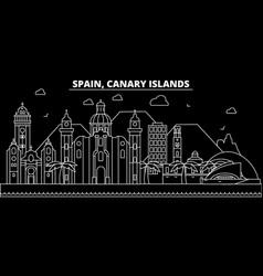 canarian islands silhouette skyline spain vector image