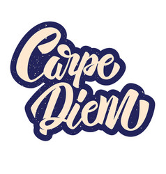 Carpe diem lettering in graffiti style phrase on vector