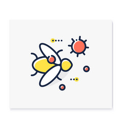 Carrier animal color icon vector