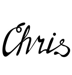 Chris name lettering vector