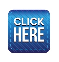 Click Here button blue vector