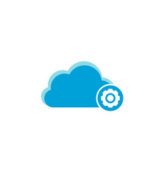 cloud computing icon settings icon vector image