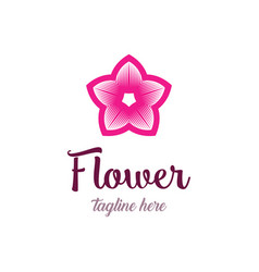 colorful flower logo design template vector image