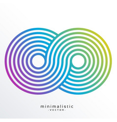 Colorful infinity symbol made with stripes vector