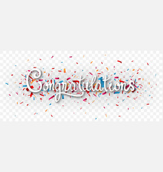 Congratulations banner isolated on transparent vector