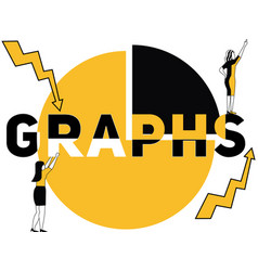 creative word concept graphs and women doing vector image