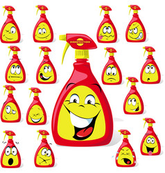 disinfection cartoon with many expressions - anti vector image