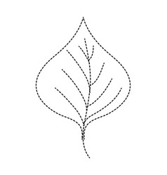 Dotted shape plant leaf design to natural icon vector
