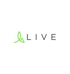 Eco life logo design abstract vector