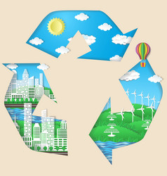 Environmental conservation eco technologies vector