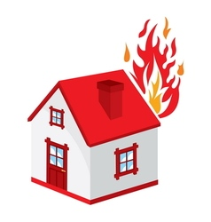 Fire in the house4 resize vector image