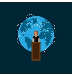 Flat a speaker politician vector