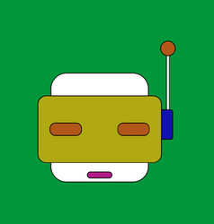Flat icon design collection toy robot face vector