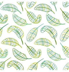 Green leaves seamless pattern for your design vector