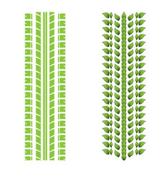 green leaves tire tracks vector image