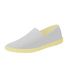 Grey loafer shoe vector