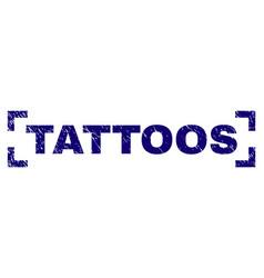 Grunge textured tattoos stamp seal inside corners vector