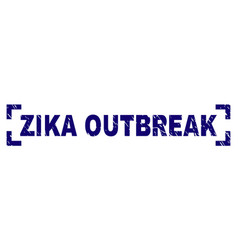 Grunge textured zika outbreak stamp seal between vector