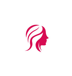 hairdresser woman beauy and makeup for logo design vector image