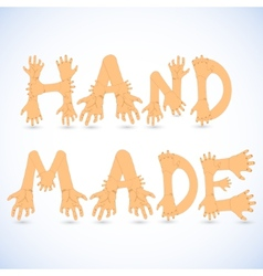 Hand made font vector
