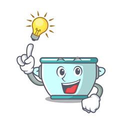 Have an idea steel pot mascot cartoon vector