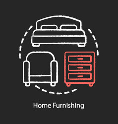 Home furnishing chalk concept icon dwelling place vector