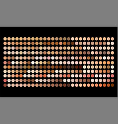 Human skin tone color palette swatches vector